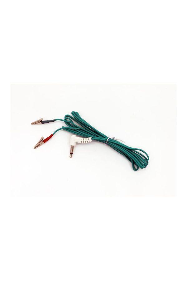 小型鱷魚夾針灸機接線